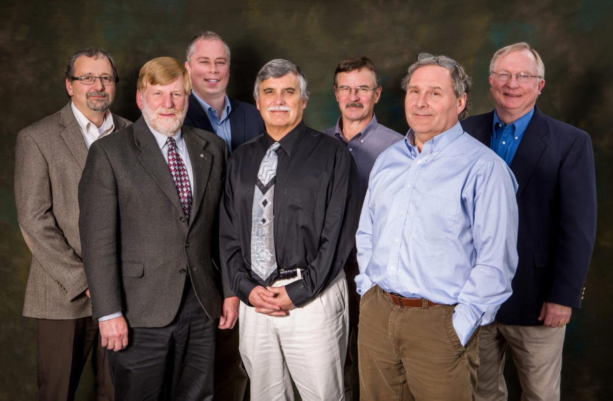 Original IGU Board Members from L to R: Bob Shefchik (2012-2015), Steve Haagenson, Oran Paul (2012-2014), Vice-Chairman Mike Meeks, Jim Laiti (2012-2014), Bill Butler, Frank Abegg