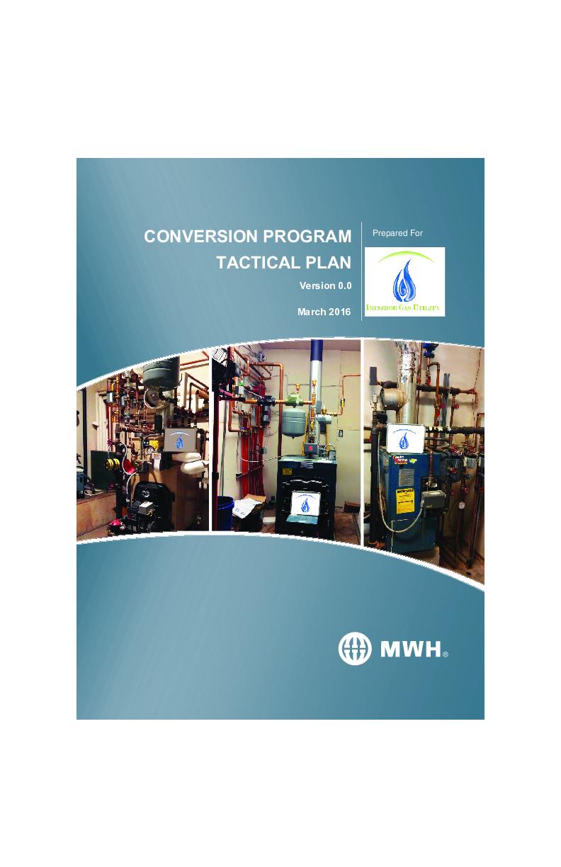 Tactical Plan Conversions Program March 2016