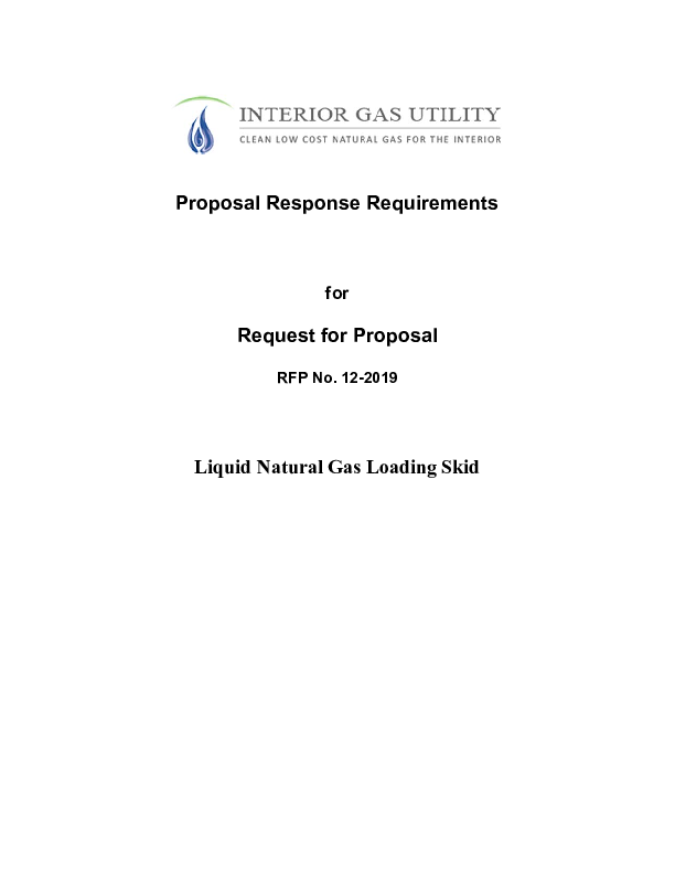 2. Proposal Response Requirements