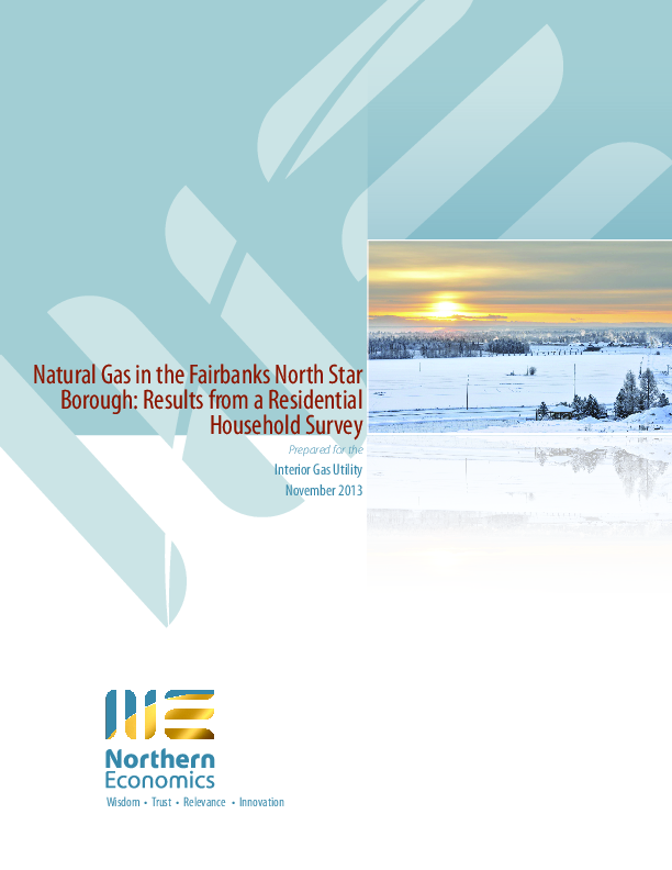 Natural Gas in the FNSB: Results from a Residential Household Survey