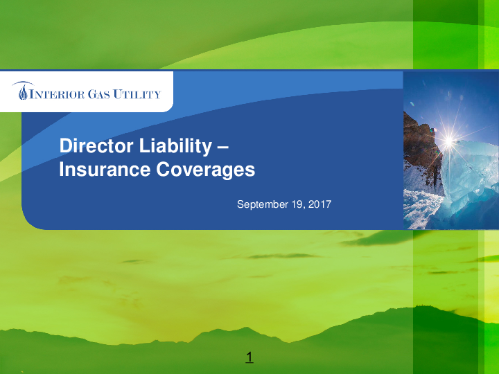 Director Liability - Insurance and Coverage