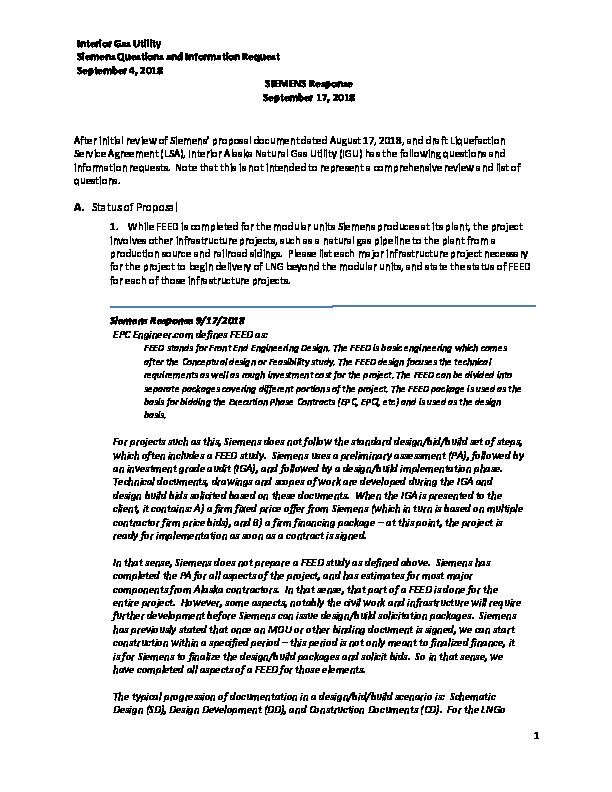 Knik Tribe & Siemens Response to IGU