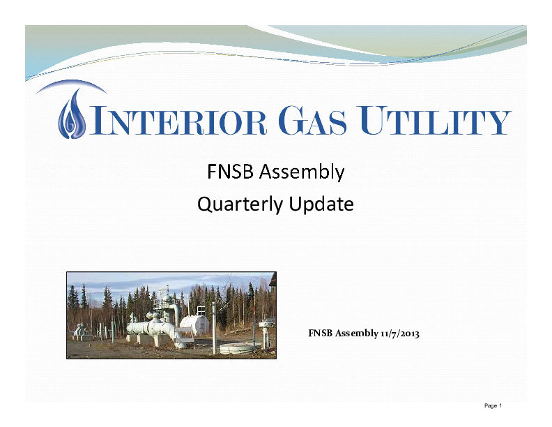2013 Q3 FNSB Report