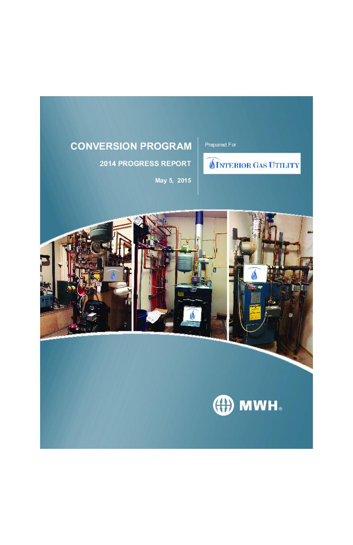May 2015 Update IGU Conversion Program 2014 Progress Report