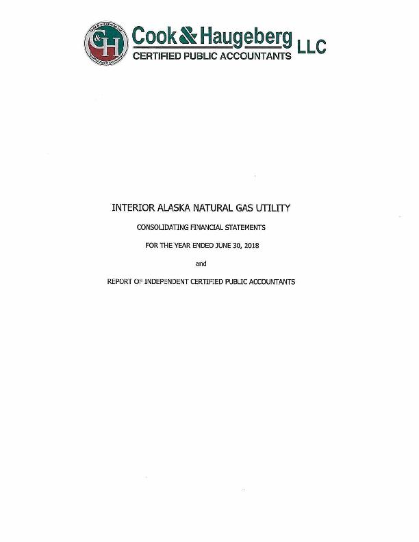 IGU Audited Financial Statements YE June 30, 2018